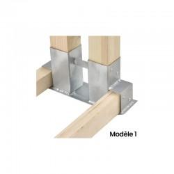 Kit complet réserve bois bûche 1m x 1 m. Prix / kit