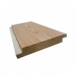 Volige / Plancher / Sous-toiture Mi-Bois 22x135mm Douglas Naturel Choix 1 4m