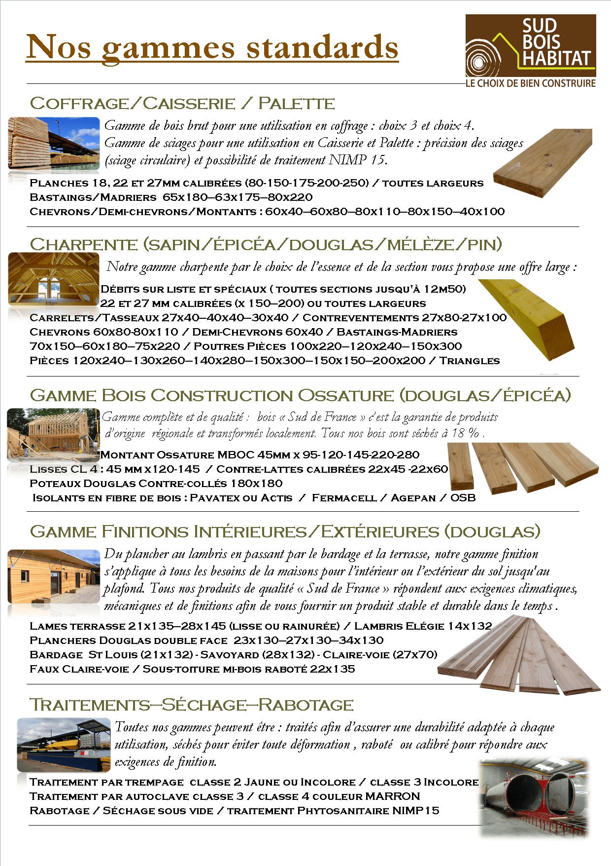 Nos produits bois
